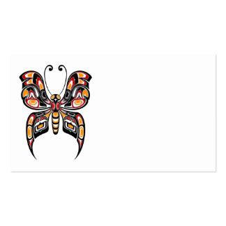 Mariposa roja y amarilla del alcohol del Haida Tarjetas De Visita