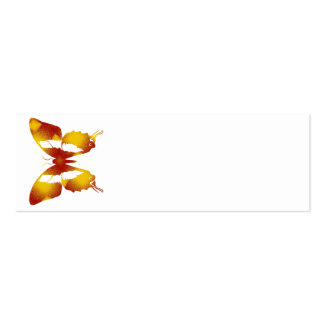 Mariposa roja y anaranjada tarjeta de visita