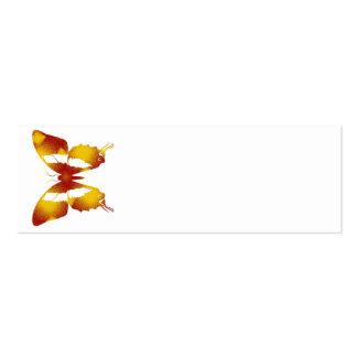 Mariposa roja y anaranjada tarjetas de visita mini