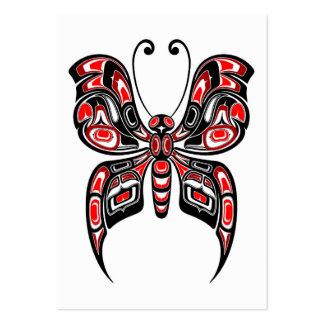 Mariposa roja y negra del alcohol del Haida en bla Plantilla De Tarjeta De Visita