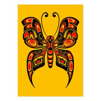 Mariposa roja y negra del alcohol del Haida en Tarjetas De Visita Grandes