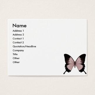 Mariposa roja y negra grande tarjeta de negocios