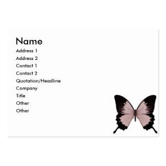 Mariposa roja y negra grande plantilla de tarjeta de visita