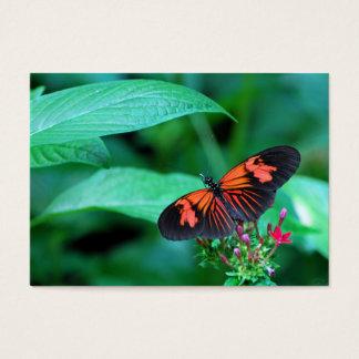 Mariposa roja y negra tarjeta de negocios