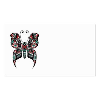 Mariposa roja y verde del alcohol del Haida en Tarjetas De Visita