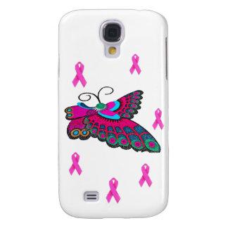 Mariposa rosada de la cinta funda para galaxy s4