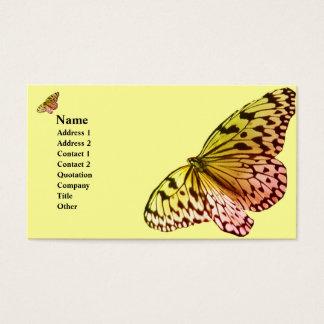 Mariposa rosada de Yelllow Tarjeta De Visita