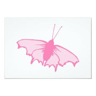 Mariposa rosada invitación 8,9 x 12,7 cm