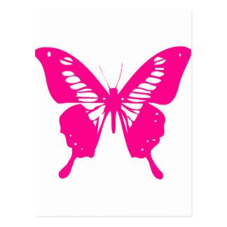 Mariposa rosada postal