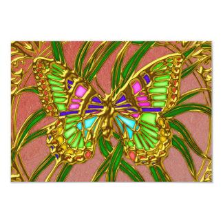 Mariposa RSVP del oro que casa la invitación