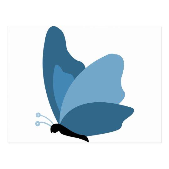 Mariposa simple - azul postal