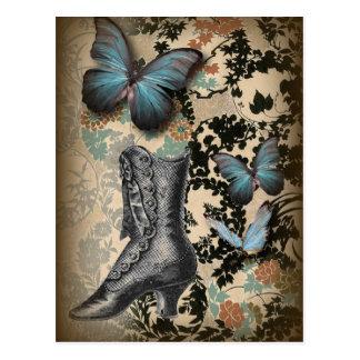 Mariposa sofisticada del zapato del cordón de postal