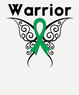Mariposa tribal del guerrero del cáncer de hígado camisetas