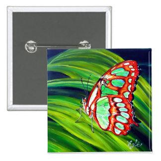 Mariposa verde de la malaquita pins