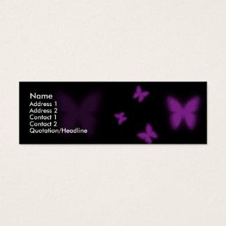 Mariposa violeta tarjeta de visita pequeña