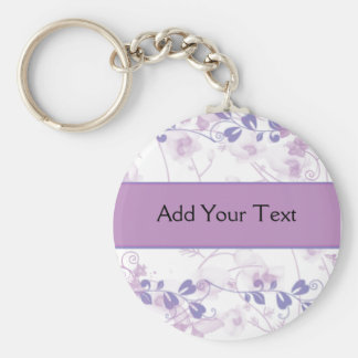 Mariposa Vision en púrpura de la lila Llavero Redondo Tipo Chapa