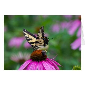 Mariposa y abeja tarjeta pequeña