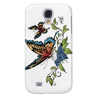 Mariposa y mariposas a todo color por el Al Río Funda Para Galaxy S4