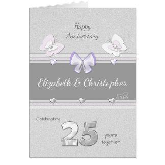 Mariposas de la tarjeta del aniversario de bodas