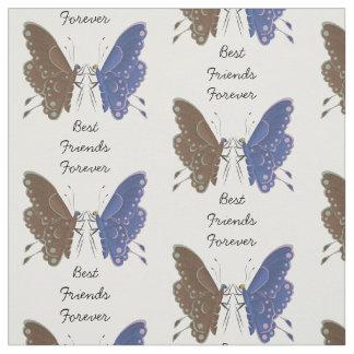 Mariposas de los mejores amigos personalizadas tela