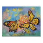 Mariposas de monarca invitación 10,8 x 13,9 cm