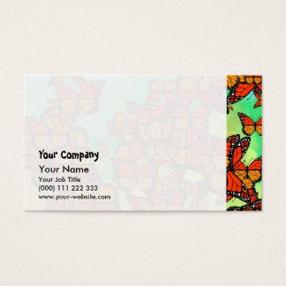 Mariposas de monarca tarjeta de negocios