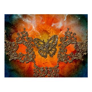 Mariposas decorativas maravillosas postal