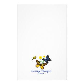 Mariposas del terapeuta del masaje folleto 14 x 21,6 cm