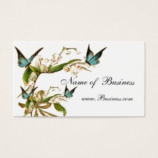Mariposas del vintage de la tarjeta del perfil