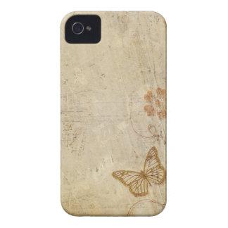 Mariposas del vintage iPhone 4 Case-Mate fundas