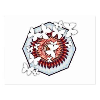 Mariposas en la postal del caleidoscopio