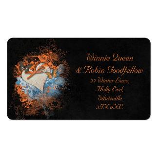 Mariposas en la tarjeta de visita de Samhain Tarjetas De Visita