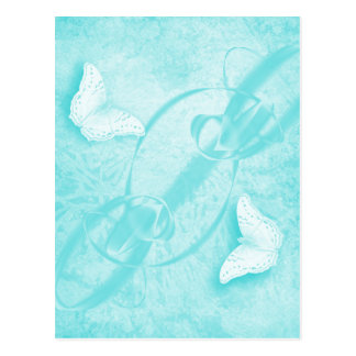 mariposas en postal vertical azul abstracta