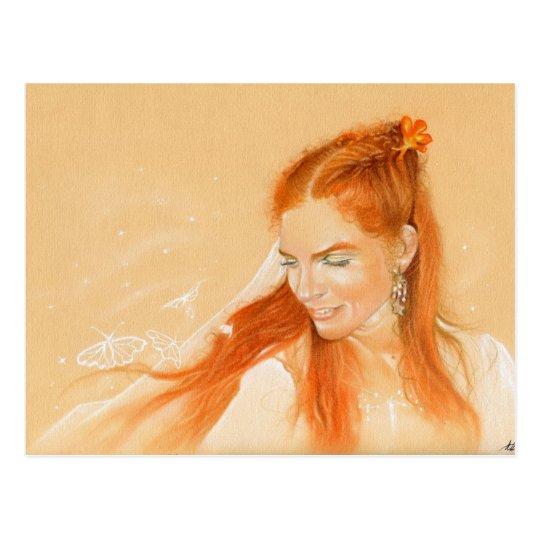 Mariposas en su postal del arte de la fantasía del