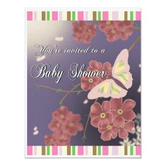 mariposas invitación 10,8 x 13,9 cm
