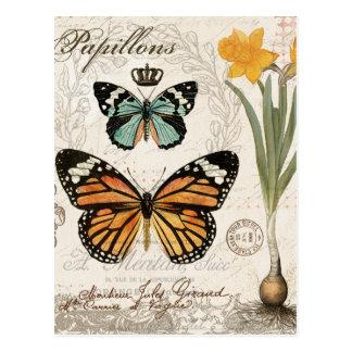 Mariposas modernas del francés del vintage