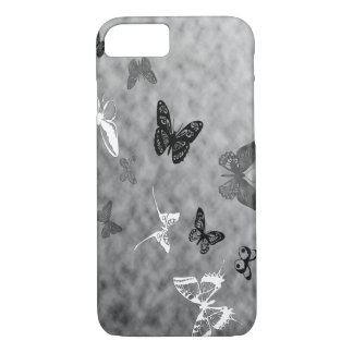 Mariposas negras del blanco de n funda iPhone 7