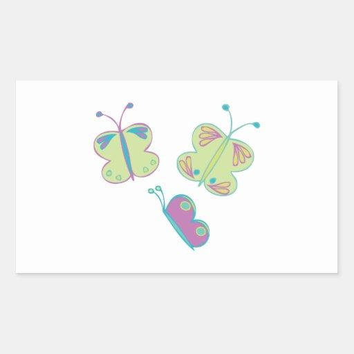 Mariposas Rectangular Pegatinas
