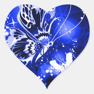 Mariposas Pegatina En Forma De Corazón