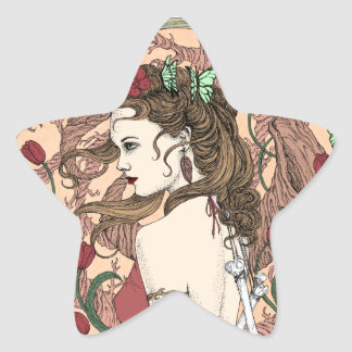 Mariposas Pegatina En Forma De Estrella