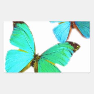 ¡mariposas! pegatina rectangular