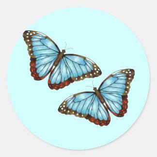 Mariposas Pegatina Redonda