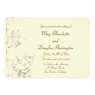 Mariposas que casan la invitación