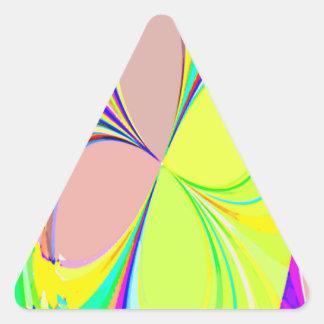 Mariposas reconstruidas pegatina de triangulo