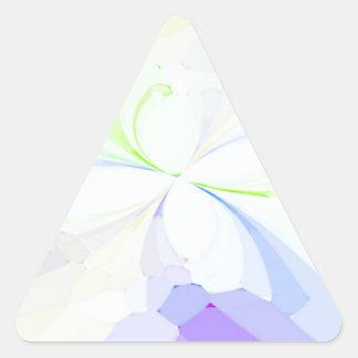Mariposas reconstruidas pegatinas de trianguladas