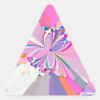 Mariposas reconstruidas pegatina trianguladas personalizadas