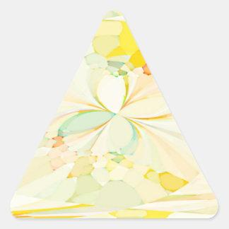 Mariposas reconstruidas pegatinas de triangulo