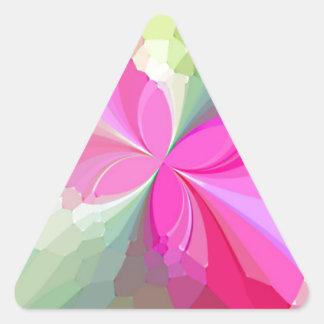 Mariposas reconstruidas pegatinas de triangulo personalizadas