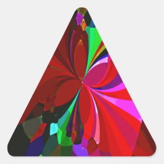 Mariposas reconstruidas calcomania de triangulo personalizadas