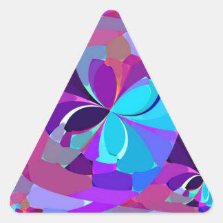Mariposas reconstruidas calcomanías triangulos